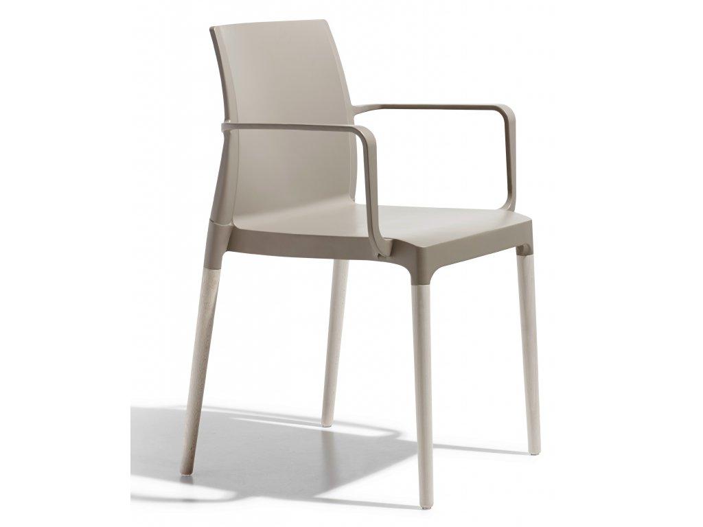 SCAB - židle NATURAL CHLOE Mon amour s područkami balení 2 ks