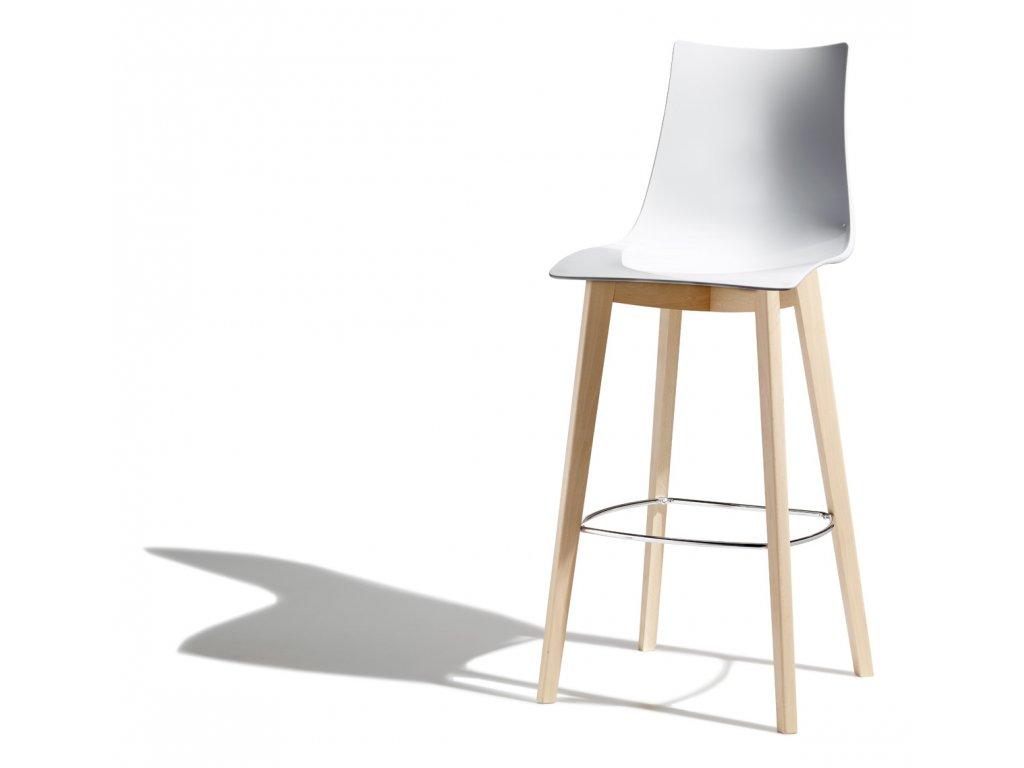 SCAB - barová židle NATURAL ZEBRA ANTISHOCK
