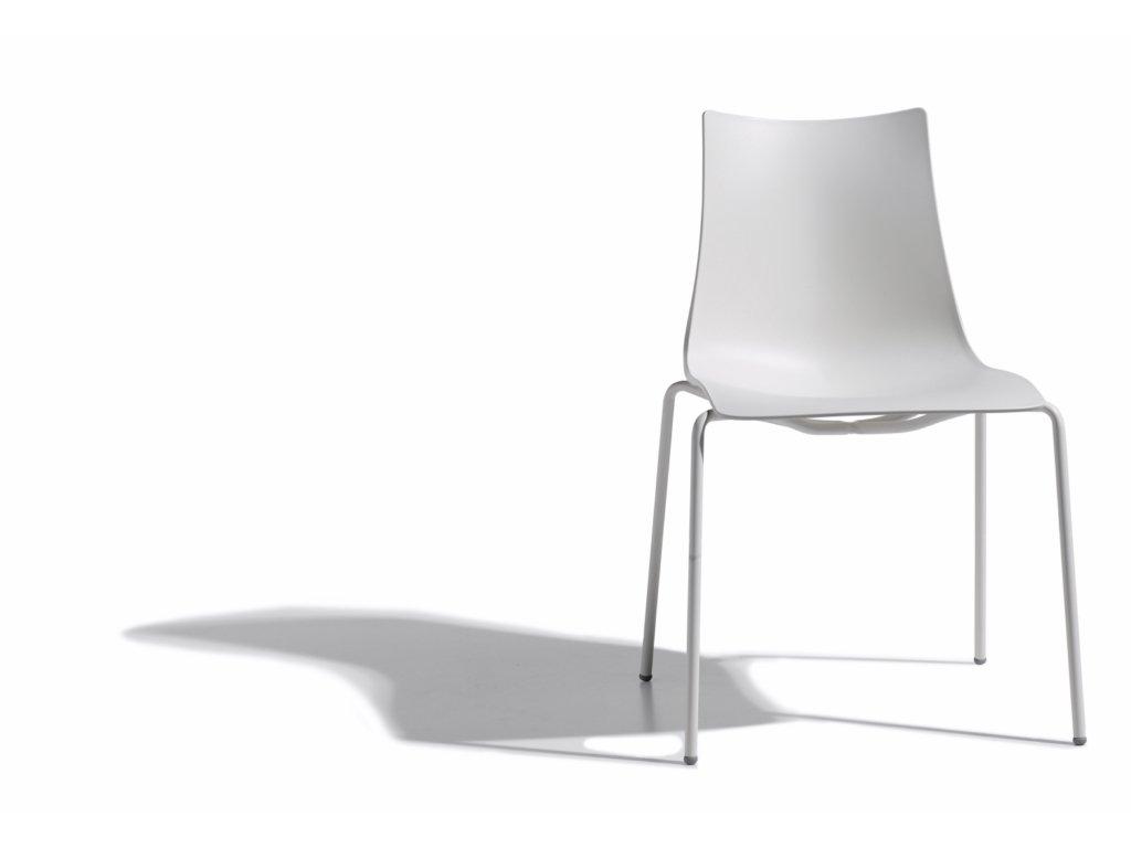 SCAB - židle ZEBRA technopolymer - lakované nohy