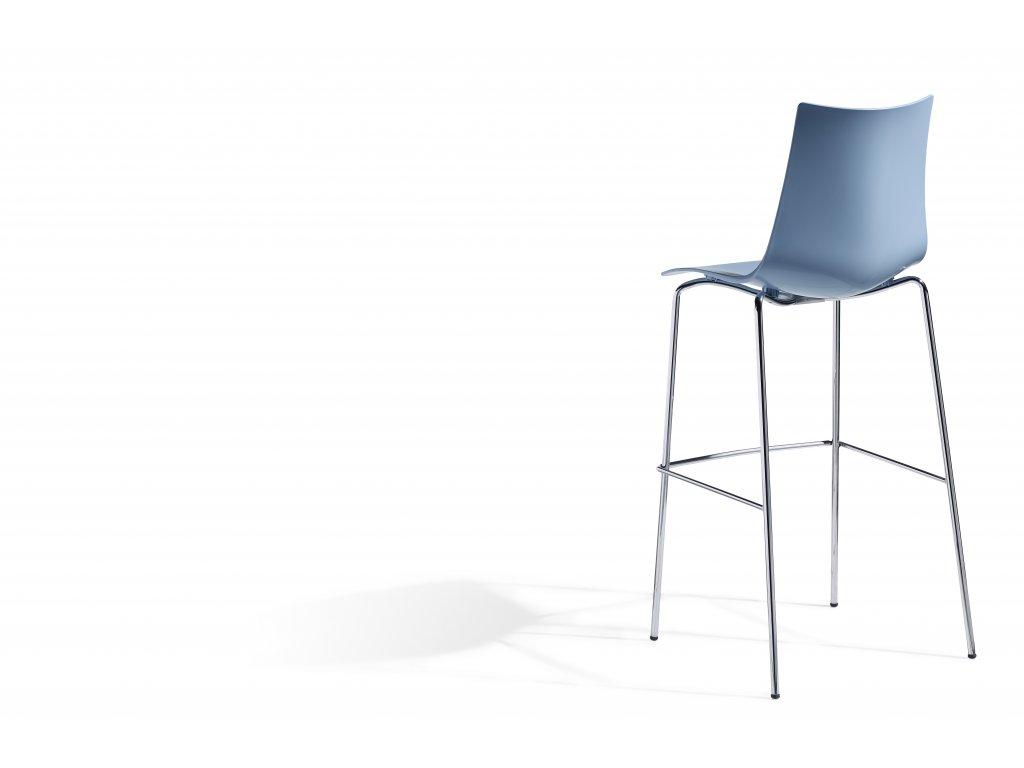 SCAB - plastová barová  židle ZEBRA TECHNOPOLYMER, fixní výška 80 cm