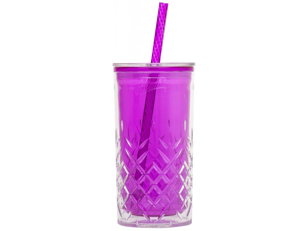Aladdin - dvoustěnný hrnek 0,47l fialový