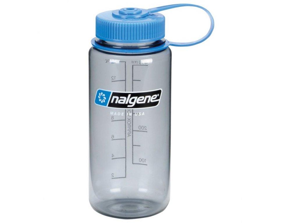 NALGENE - láhev na pití Wide Mouth 500 ml Grey