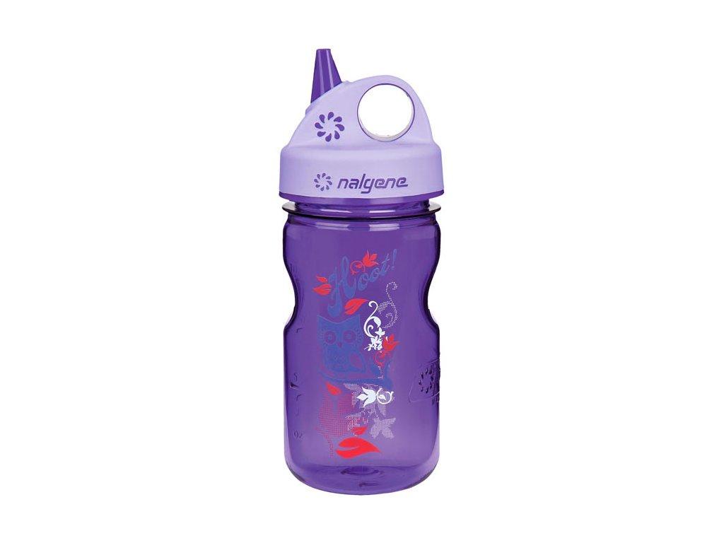Odolná láhev pro děti a batolata Nalgene fialová se sovou 1