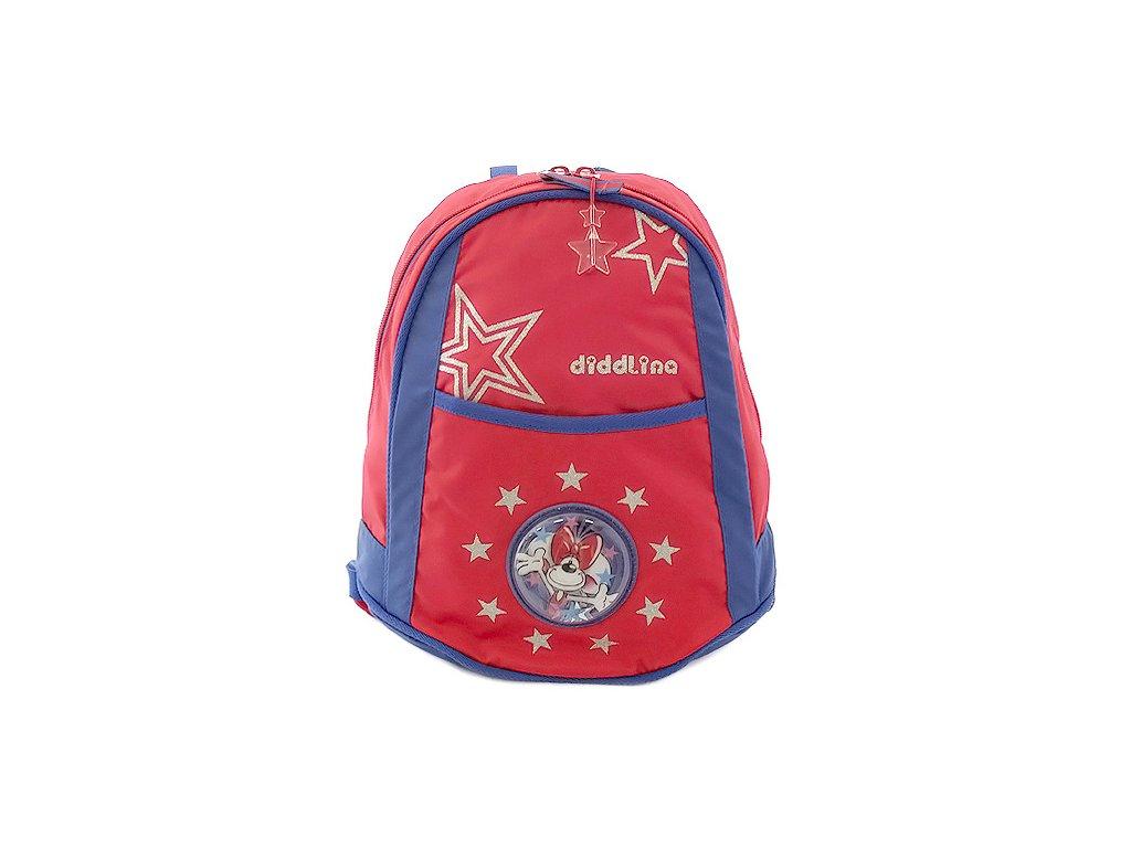 Diddl & Friends - dětský batoh červeno-modrý Hvězdičky