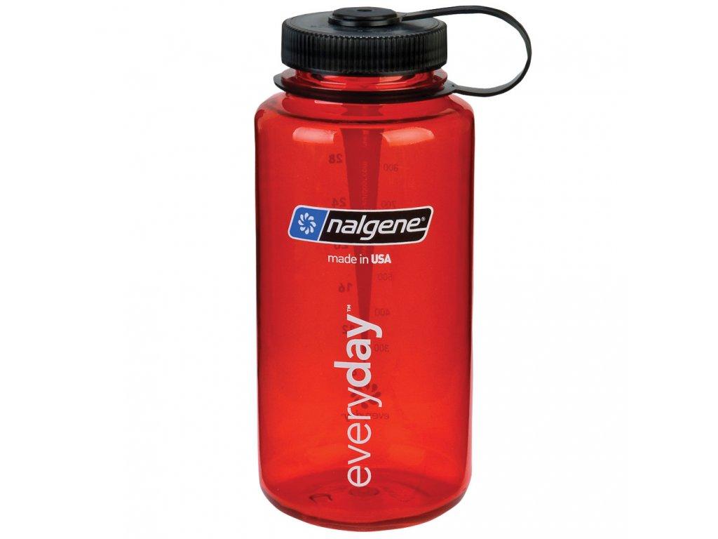 NALGENE - láhev na pití Wide Mouth 1000 ml Red