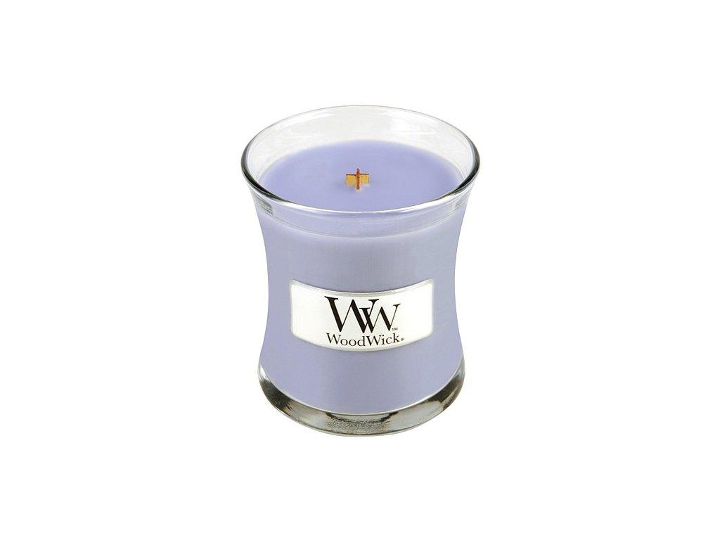 WoodWick - vonná svíčka ve skle levandulová lázeň 85 g