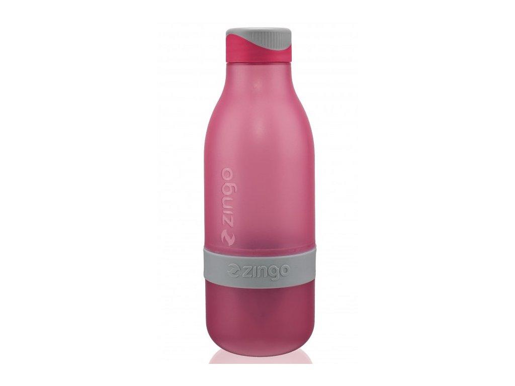 Zing-Anything plastová lahev Zingo růžová