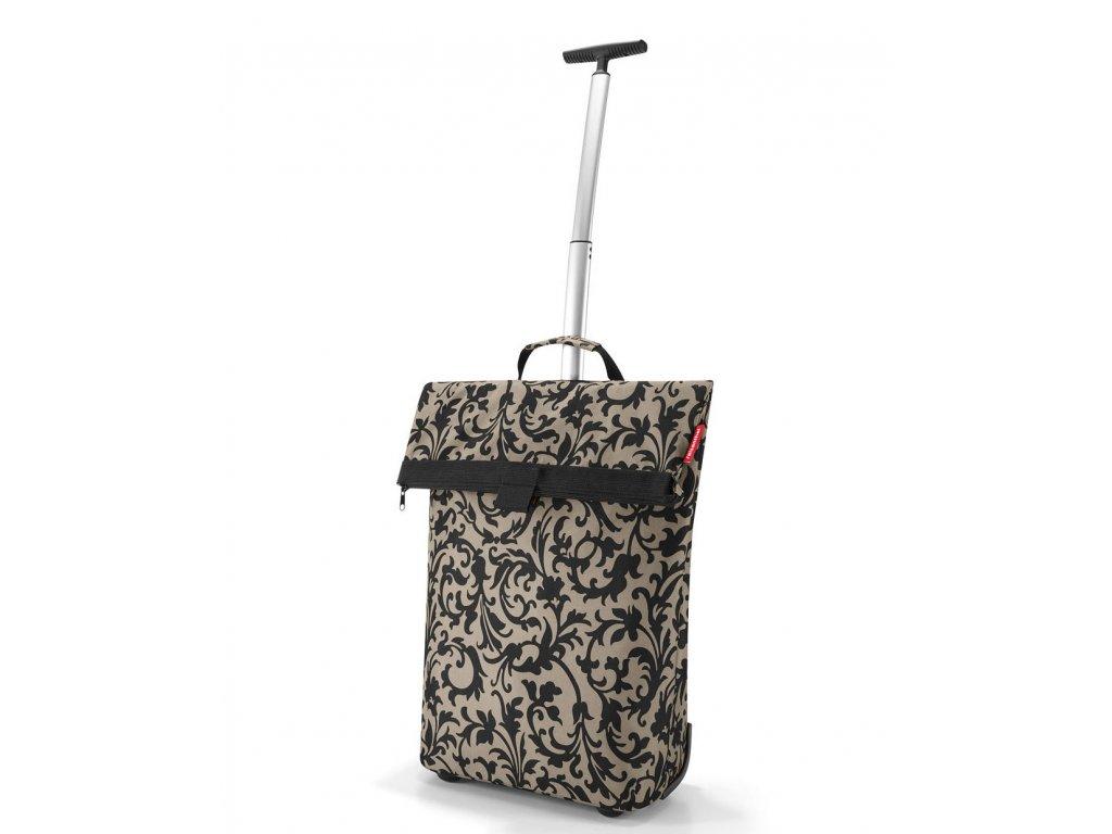 Reisenthel - nákupní taška na kolečkách Trolley M Baroque Taupe