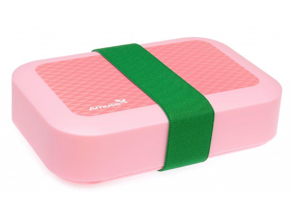 DBP - svačinový box Amuse růžový střední
