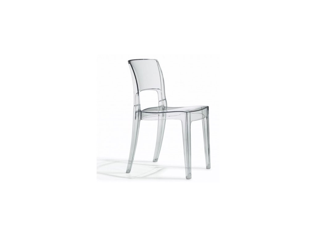 SCAB - plastová židle ISY ANTISCHOCK  transparentní
