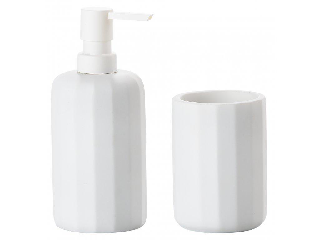 ZONE - dávkovač mýdla a kelímek GRAPHIC bílý