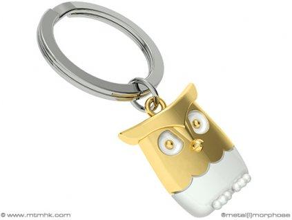 MTM - klíčenka Sova zlatá