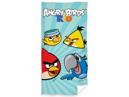Angry Birds dětská osuška RIO BLUE