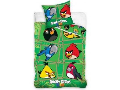 Angry Birds dětské barevné povlečení GREEN