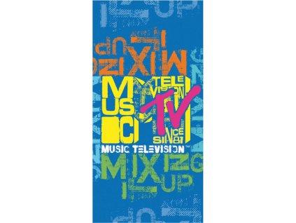 Plážová osuška MTV - modrá