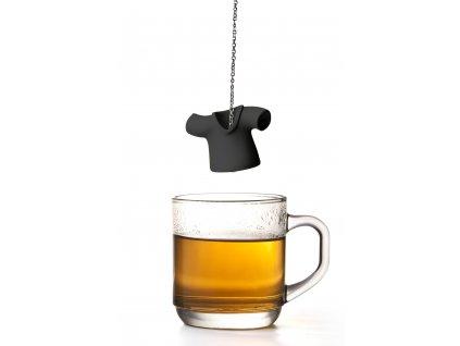 QUALY čajové sítko Tea Shirt černé