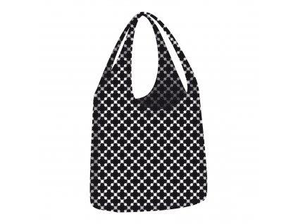 ECOZZ nákupní taška Little Big Bag Black Squares