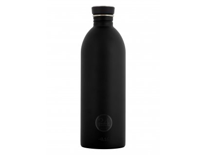 Černá lahev na vodu z kvalitní nerezové oceli od italského výrobce 24 bottles. Objem 1l.