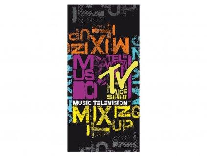 Plážová osuška MTV - černá