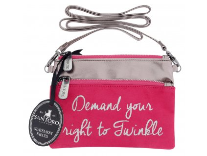 Santoro - kabelka Statement Pieces Shoulder Bag - Demand your Right to Twinkle
