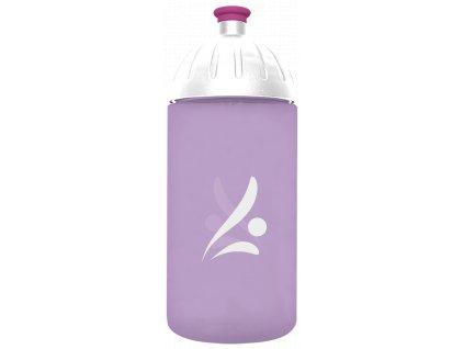 FreeWater plastová lahev 0,5l Logo fialová