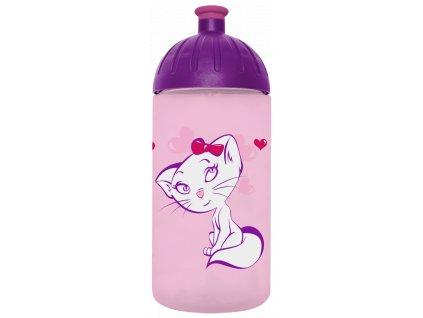 FreeWater plastová lahev 0,5l Kočka růžová