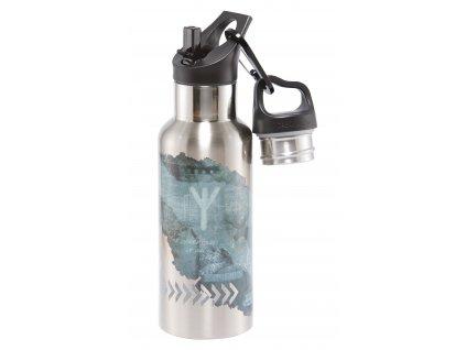 Carl Oscar nerezová lahev Wisdom TEMPflask šedá 0,5l
