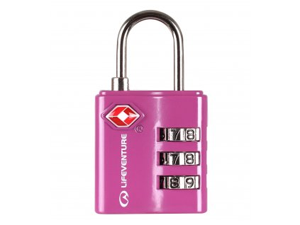 LifeVenture - zámek TSA Combination Lock pink