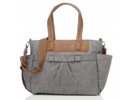 Babymel - multifunkční kabelka Cara Bloom Grey 1