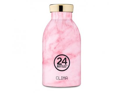 24Bottles - termolahev Clima Bottle Marble Pink 330 ml