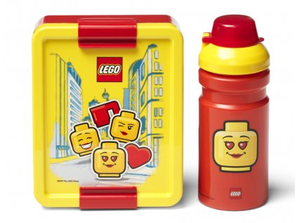 LEGO ICONIC GIRL svačinový set žlutá/červená