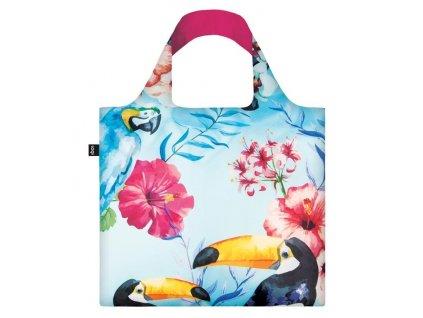 LOQI skládací nákupní taška WILD Birds