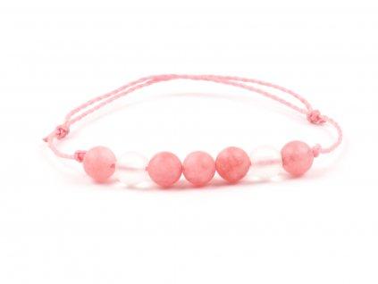 Moni dámský náramek růžový jadeit růžový matný