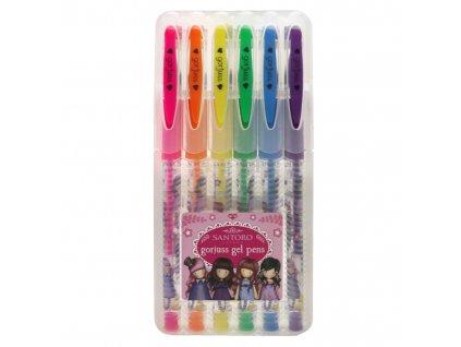 SANTORO sada 6 ks gelových per Gorjuss Fiesta Gel Pen Set Cobwebs