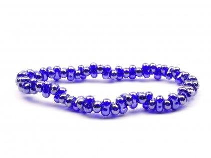 Moni - dámský náramek modrý farfalle