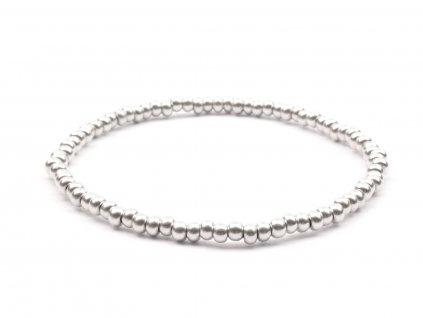 Moni - dámský náramek stříbrné korálky