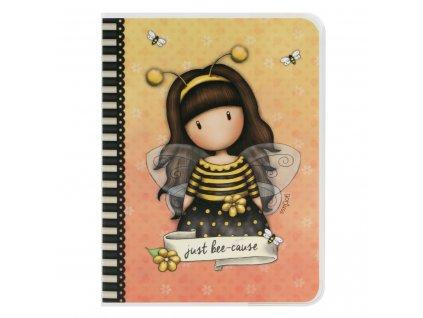 SANTORO LONDON zápisník A6 Gorjuss Bee-Loved