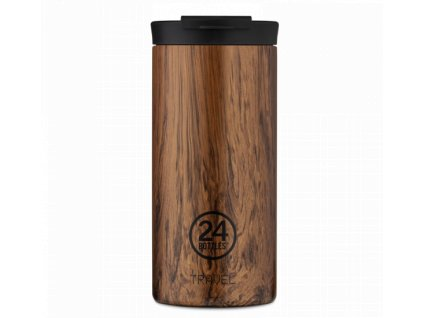24Bottles nerezová termohrnek Travel Tumbler sequoia wood 600 ml