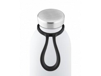 24Bottles - silikonové očko na lahev černé
