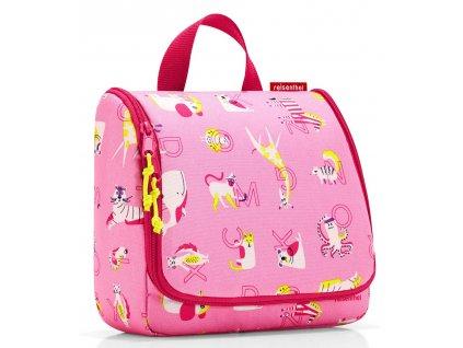 Reisenthel - toaletní taška toiletbag kids abc friends pink