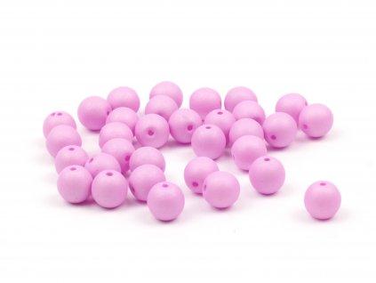 Skleněné korálky Estrela NEON 6 mm Baby Pink