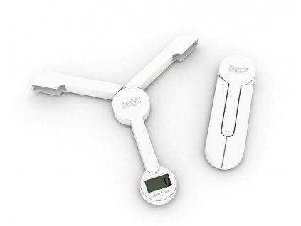 Joseph Joseph - Skládací kuchyňská digitální váha Tri-Scale, bílá