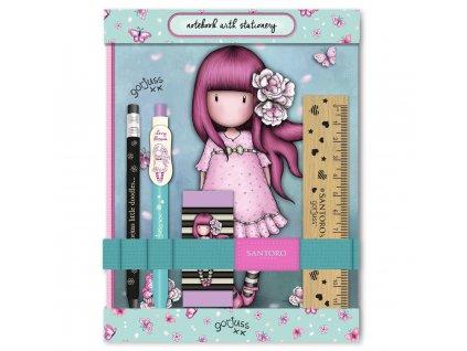 SANTORO LONDON sada do školy se zápisníkem Cherry Blossom