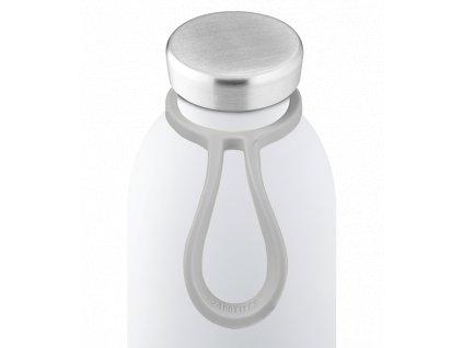 24Bottles - silikonové očko na lahev light grey