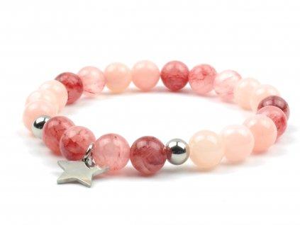 Moni dámský náramek jadeit cherry jadeit pink