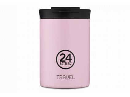 24Bottles nerezový termohrnek Travel Tumbler Candy Pink 350 ml