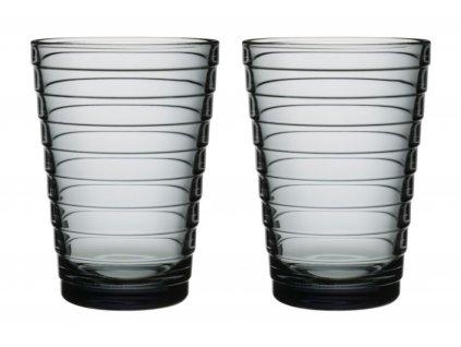 Iittala - sklenice Aino Aalto 330 ml set 2 ks šedá