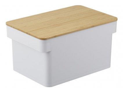 YAMAZAKI chlebník s prkénkem bílý