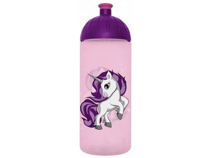 FreeWater plastová lahev 0,7l Jednorožec 2 růžová transparentní
