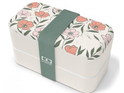 Monbento Bento box na jídlo MB Original graphic Bloom